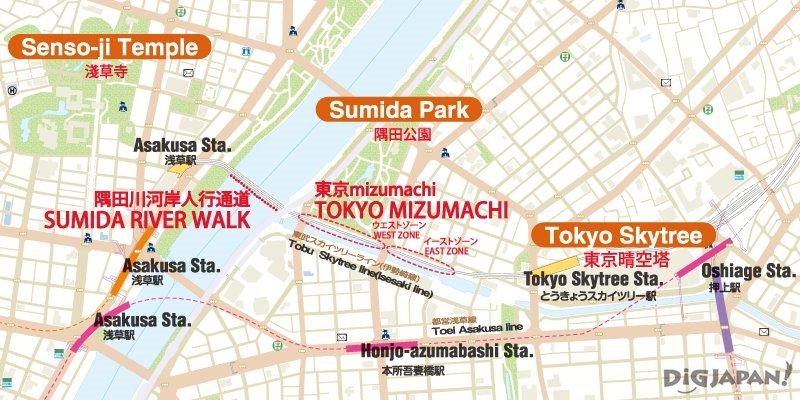 東京mizumachi Map~淺草、隅田公園、東京晴空塔、押上
