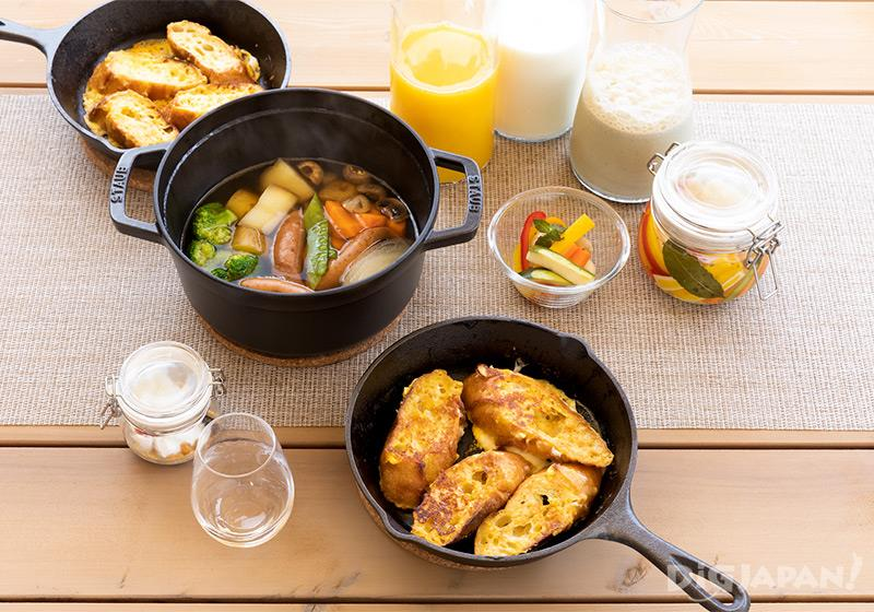 エトワ笠間 朝食コースの一例