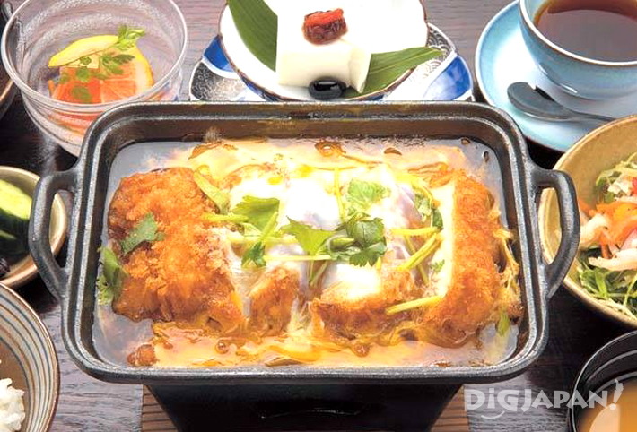 Tofu Katsu Ni Gozen set meal at Tamura Ginkatsu Tei