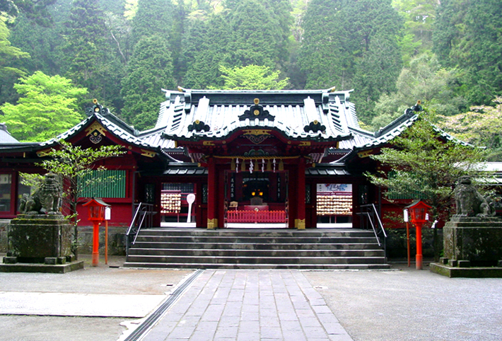 The main shrine of Hakone Shrine