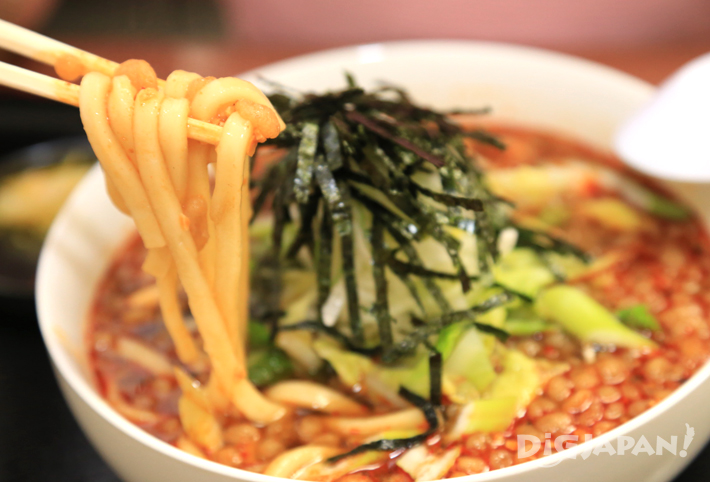 The red soup of Ore no Udon Aka