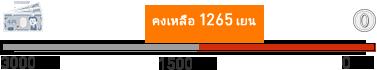 残り1265円