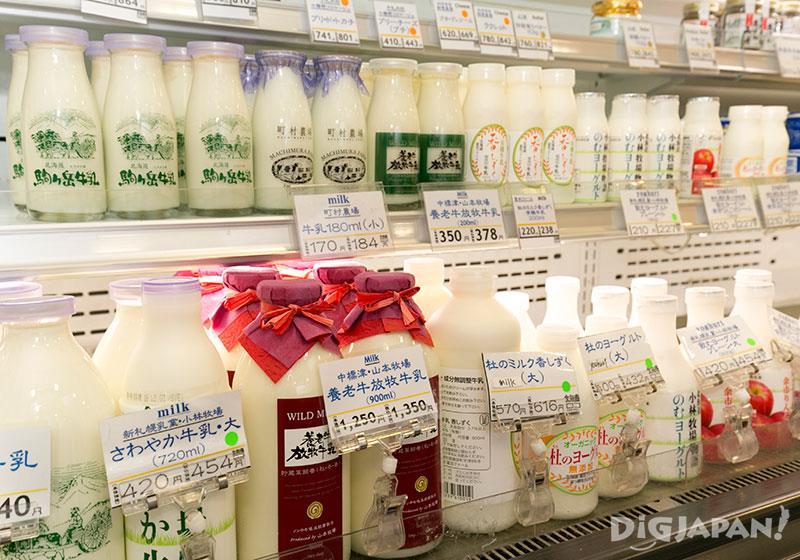 北海道牛奶的種類也非常多