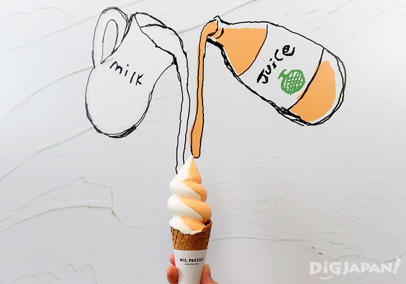 冰淇淋YUBARI MELON&MILK