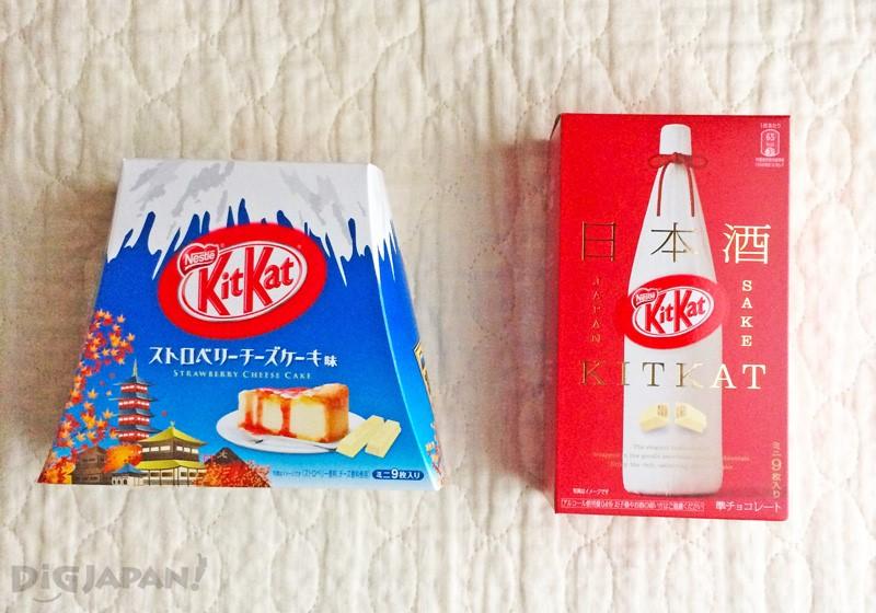 左Kit Kat富士山草莓蛋糕648日元 右:Kit Kat日本酒756日元