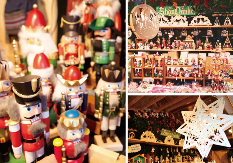 ドイツの工芸品やクリスマスオーナメントも